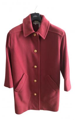 Salvatore Ferragamo Pink Wool Coats