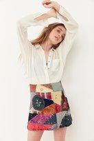 Ecote Briana Patchwork Mini Skirt