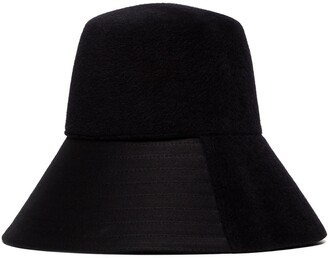Valentino panelled felt bucket hat