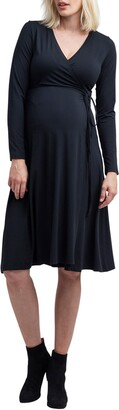 Nom Maternity Tessa Long Sleeve Jersey Maternity/Nursing Wrap Dress