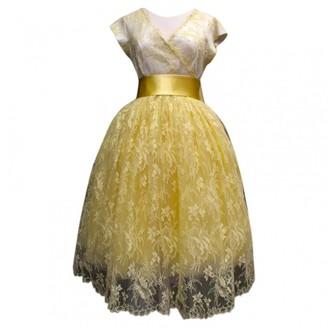 Lanvin Yellow Lace Dress for Women Vintage