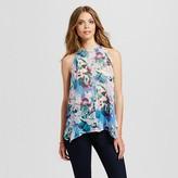 Women's Floral Print Handkerchief Top - J'AIME (Juniors')