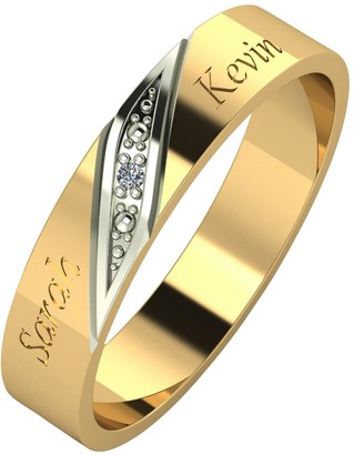 Love Diamond Personalised 9ct Gold Diamond Set 4mm Wedding Band