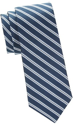 Saks Fifth Avenue Made In Italy Striped Silk Tie