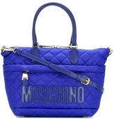 Moschino quilted logo tote