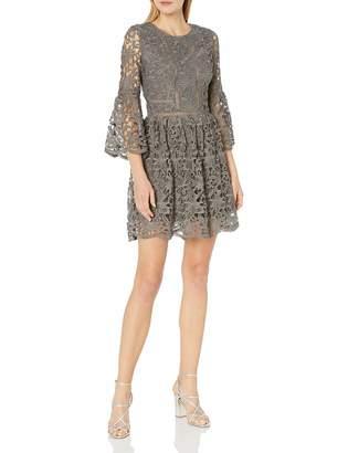 J.o.a. Women's Ruffle Sleeve Fit & Flare Dress