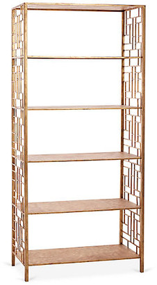 One Kings Lane Larkspur Etagere - Antiqued Gold