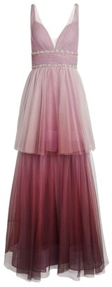 Marchesa Tiered Ombre Gown