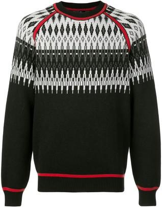 Marcelo Burlon County of Milan Norwegian intarsia jumper