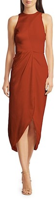 Brandon Maxwell Sleeveless Silk Halterneck Dress