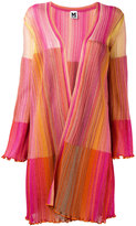 M Missoni patchwork frill trim cardigan - women - Polyamide/Viscose/Metallic Fibre - 42