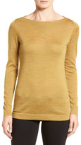 Eileen Fisher Fine Merino Bateau Neck Top