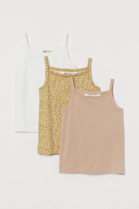 H&M 3-Pack Cotton Vest Tops