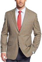 Tasso Elba Mens Houndstooth Notch Collar Two-Button Blazer Tan 40S