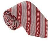 Missoni U5325 Red Micro Check 100% Silk Tie.