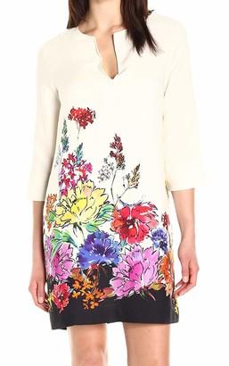 Karen Kane Women's Floral Border Shift Dress