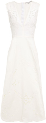 Stella McCartney Broderie Anglaise Denim Midi Dress