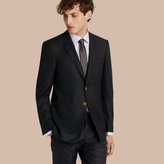Burberry Modern Fit Tailored Wool Half-canvas Jacket