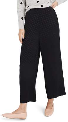 Madewell Drapey Jacquard Huston Pull-On Crop Pants
