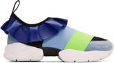 Emilio Pucci Blue Colorblock Sneakers