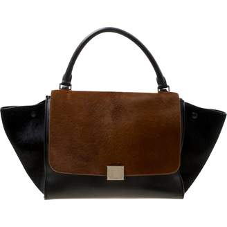 Celine Trapeze Black Leather Handbags