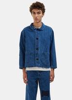 Men's Patchwork Denim Chore Jacket In Blue €260