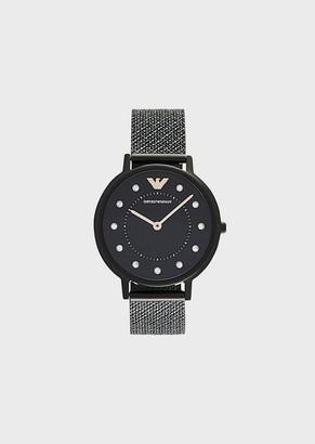 Emporio Armani Women'S Stainless Steel Three-Hand Watch