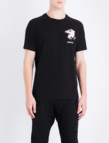 MHI Tiger-embroidered cotton-jersey T-shirt