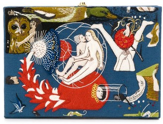 Olympia Le-Tan Bosch book-shaped clutch