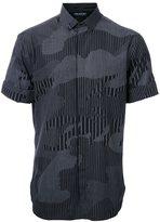 Neil Barrett camouflage print shirt