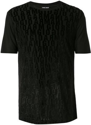 Giorgio Armani all over logo print T-shirt