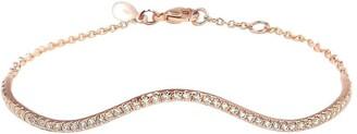 BONDEYE JEWELRY 14kt rose gold Wave diamond bracelet
