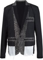 Haider Ackermann colour block blazer - men - Cotton/Linen/Flax/Acrylic/Wool - 50