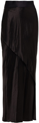 The Range Wrap-effect Satin Maxi Skirt