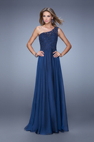 La Femme 20907 Beaded Asymmetric A-line Dress