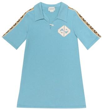 Gucci Kids Cotton-jersey polo dress