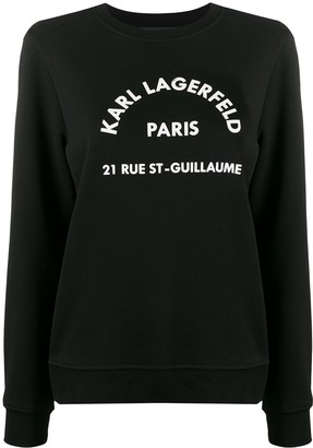Karl Lagerfeld Paris Address Logo Sweatshirt