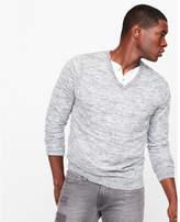 Express linen blend v-neck sweater