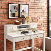 Crosley Campbell Writing Desk with Hutch White