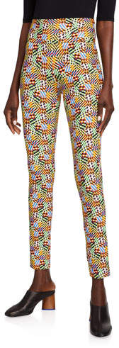 Meva Patchwork-Print Leggings