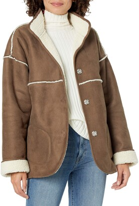 The Drop Women's @spreadfashion Reversible Sherpa Jacket