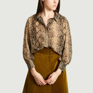 Suncoo Beige Polyester Loukia Shirt - 0 | polyester | beige - Beige