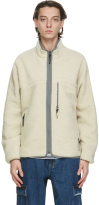 This Is Never That thisisneverthat Reversible Off-White Sherpa Boa Jacket