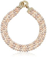 "Carolee The Plaza"" The Plaza Pink Pearl Triple Row Necklace, 16"""