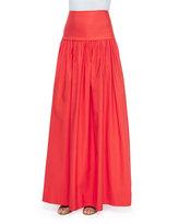 Alexis Musan High-Waist Maxi Skirt, Tangerine