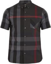Burberry Thornaby House-check print cotton-blend shirt