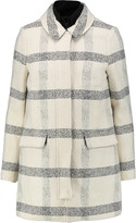 Tory Burch Plaid cotton-blend bouclé coat