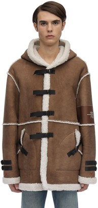 Long Sheepskin Jacket W/Shearling Detail