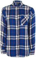 Topshop Blue check shirt