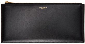 Saint Laurent Black Envelope Box Pouch